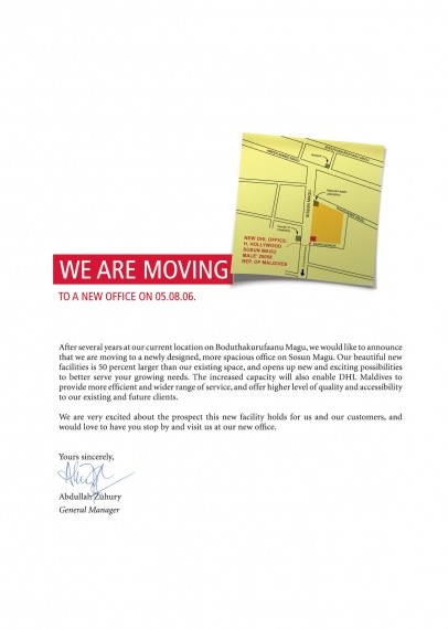dhl office move